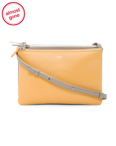 Made In Italy Multicolor Lambskin Trio Crossbody