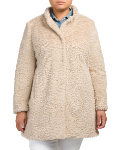 Plus Faux Fur Cozy Jacket