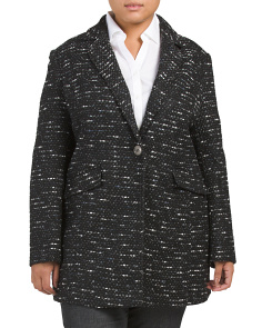 Plus Speckled Tweed Coat