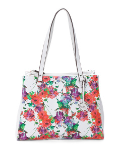 Printed Luxe Tote