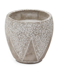 Patterned Vase Citronella Candle