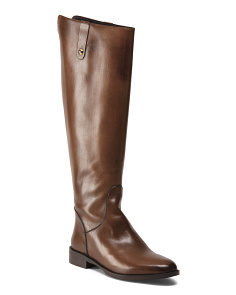 Made In Italy Calf High Leather Boots