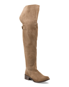 Made In Italy Over The Knee Suede Boots