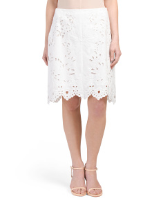 Valarina Embroidered Skirt