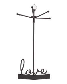 14in Love Iron Jewelry Holder