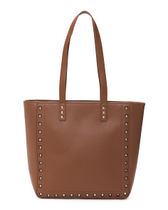 Leather Studded Tote