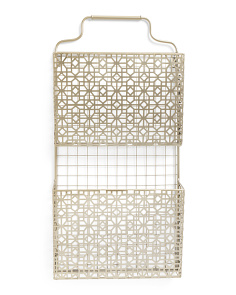 13x26 Metal Wall Magazine Rack