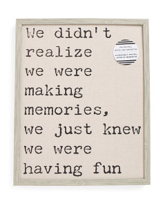 Fun Quote Print Linen Pinboard