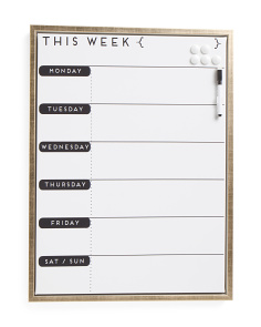 18x24 This Week Magnetic Dry Erase Board
