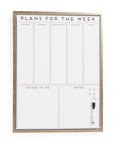 18x24 Weekly Magnetic Dry Erase Board