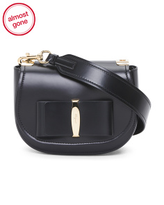 Made In Italy Leather Vara Flap Bag