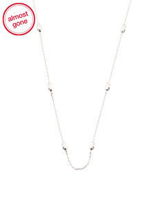 Made In Italy Sterling Silver Anchor Mooncut Chain Necklace