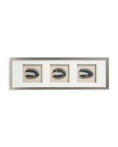 10x30 3pc Agate Framed Wall Art