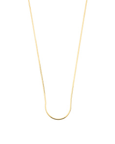 Made In Italy Gold Plated Sterling Silver Snake Necklace
