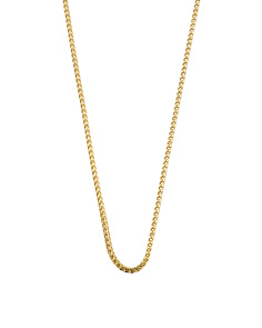 Men's Made In Italy Gold Plated Sterling Silver Necklace