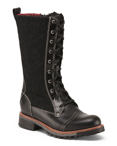 Water Resistant Leather Boots