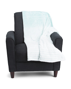 Faux Cashmere Ombre Striped Blanket