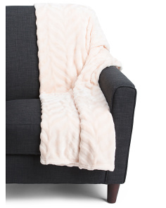 Oversized Silky Soft Chevron Throw