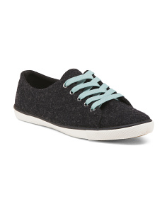 Heathered Wool Low Cut Sneakers