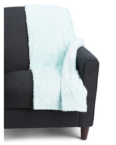 Tulip Cut Plush Velvet Throw