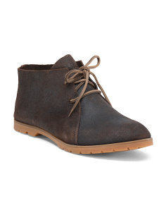 Water Resistant Leather Chukka Boots