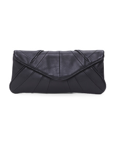 Flap Envelope Leather Clutch