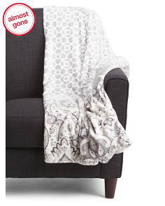 Oversized Andrea Plush Velvet Throw
