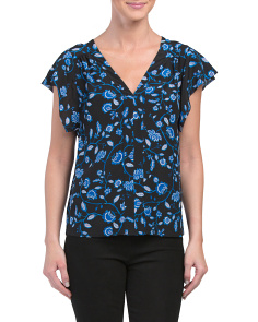 Silk Kyoto V Neck Top