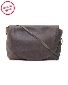 Flap Front Leather Messenger