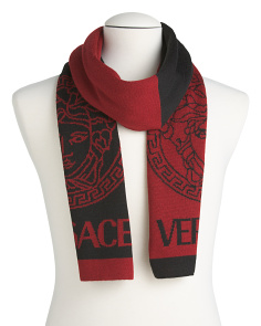Men's Made In Italy Wool Logo Scarf