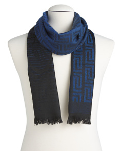 Men's Made In Italy Wool Maze Scarf
