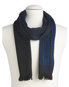 Made In Italy Medusa With Maze Wool Scarf