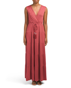 Sleeveless Deep V Neck Maxi Dress