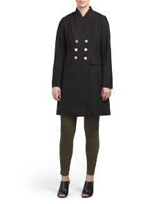 Hazel Military Wool Coat