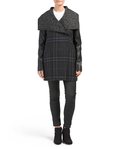 Olivia Wool Plaid Coat