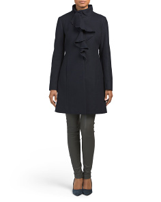 Kate Wool Ruffle Coat