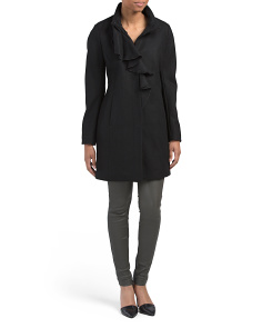 Kate Wool Ruffle Front Coat