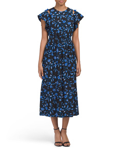 Floral Print Kyoto Silk Dress