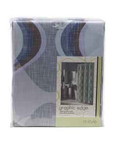 Graphic Edge Shower Curtain