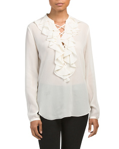 Rianala Silk Textured Chiffon Top
