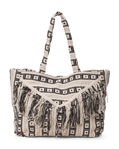 Tote With Raw Edge Front