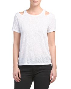 Cut Out Shoulder Tee