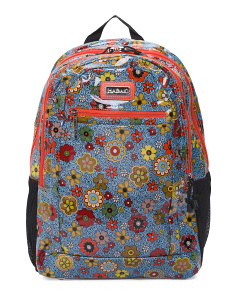 Nylon Floral Swirl Backpack