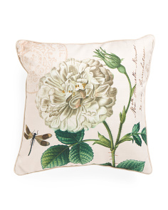 20x20 French Floral Linen Pillow
