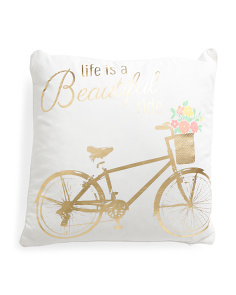 20x20 Life Is A Beautiful Ride Pillow