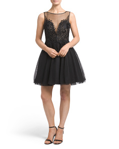 Fit And Flare Tulle Skirt Dress
