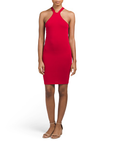 Juniors High Neck Bodycon Dress