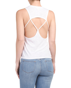 Juniors Strapy Back Muscle Tee