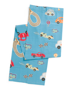 Kids 72x72 Racetrack Shower Curtain