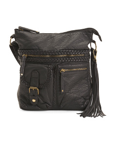 Washed Messenger Crossbody